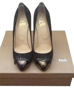 Christian Louboutin Chanel Gucci Burberry Celine Dark Grey Pumps