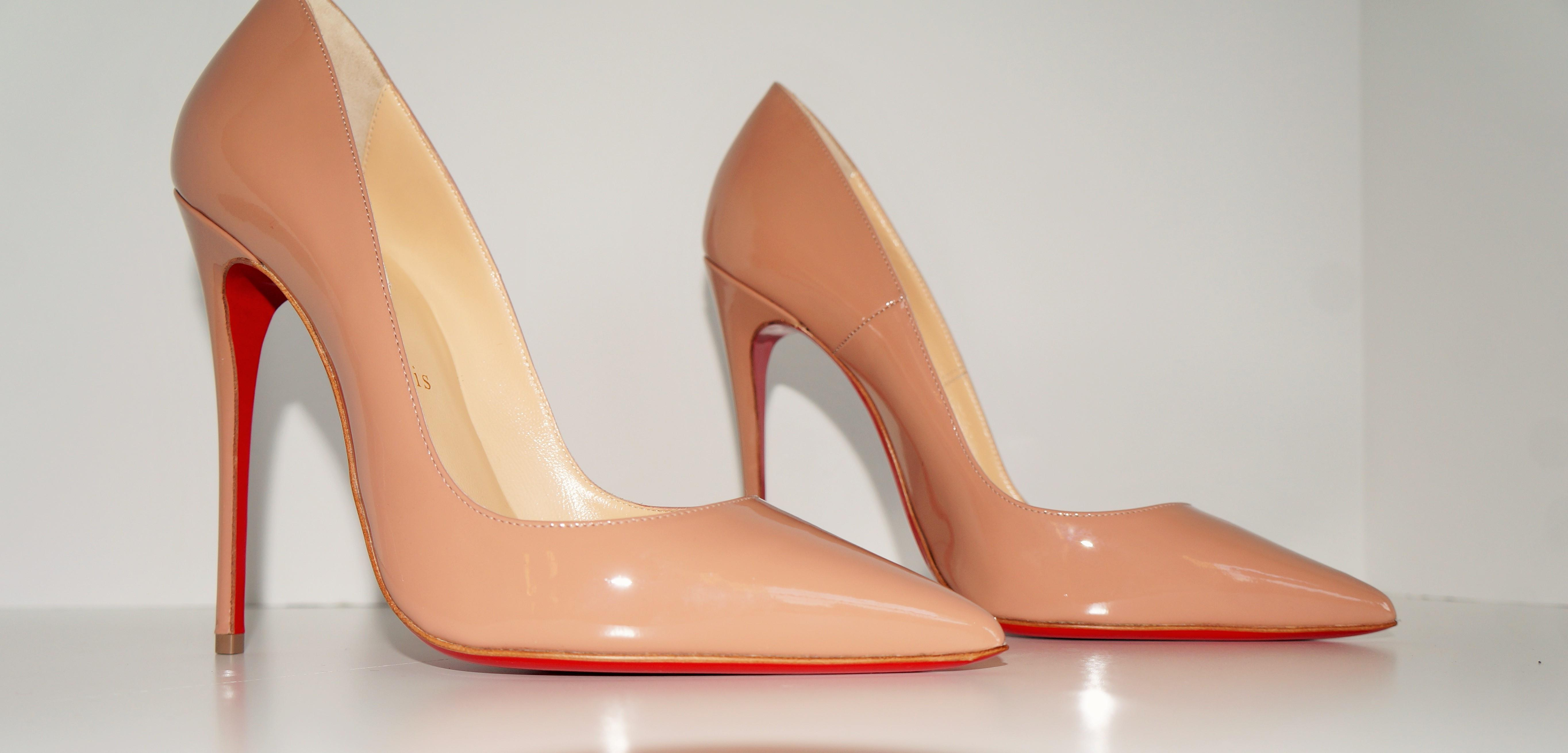 meet 05187 81644 Christian Louboutin Nude 1/2 So Kate Patent Red Red Red Sole ...