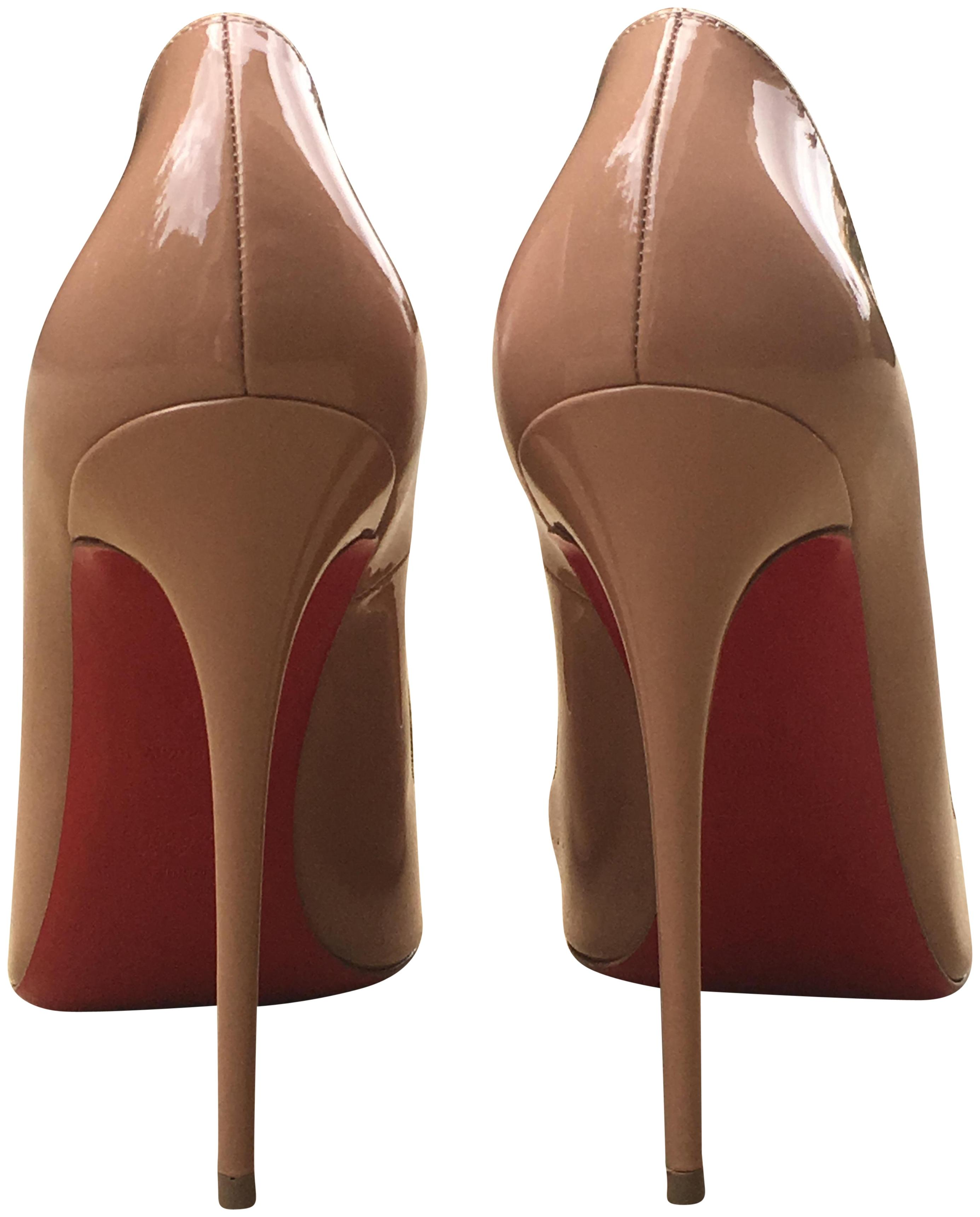 47b13c646933 Christian Louboutin Nude Black Patent Leather So So So Kate Pumps Size EU  41.5 (Approx