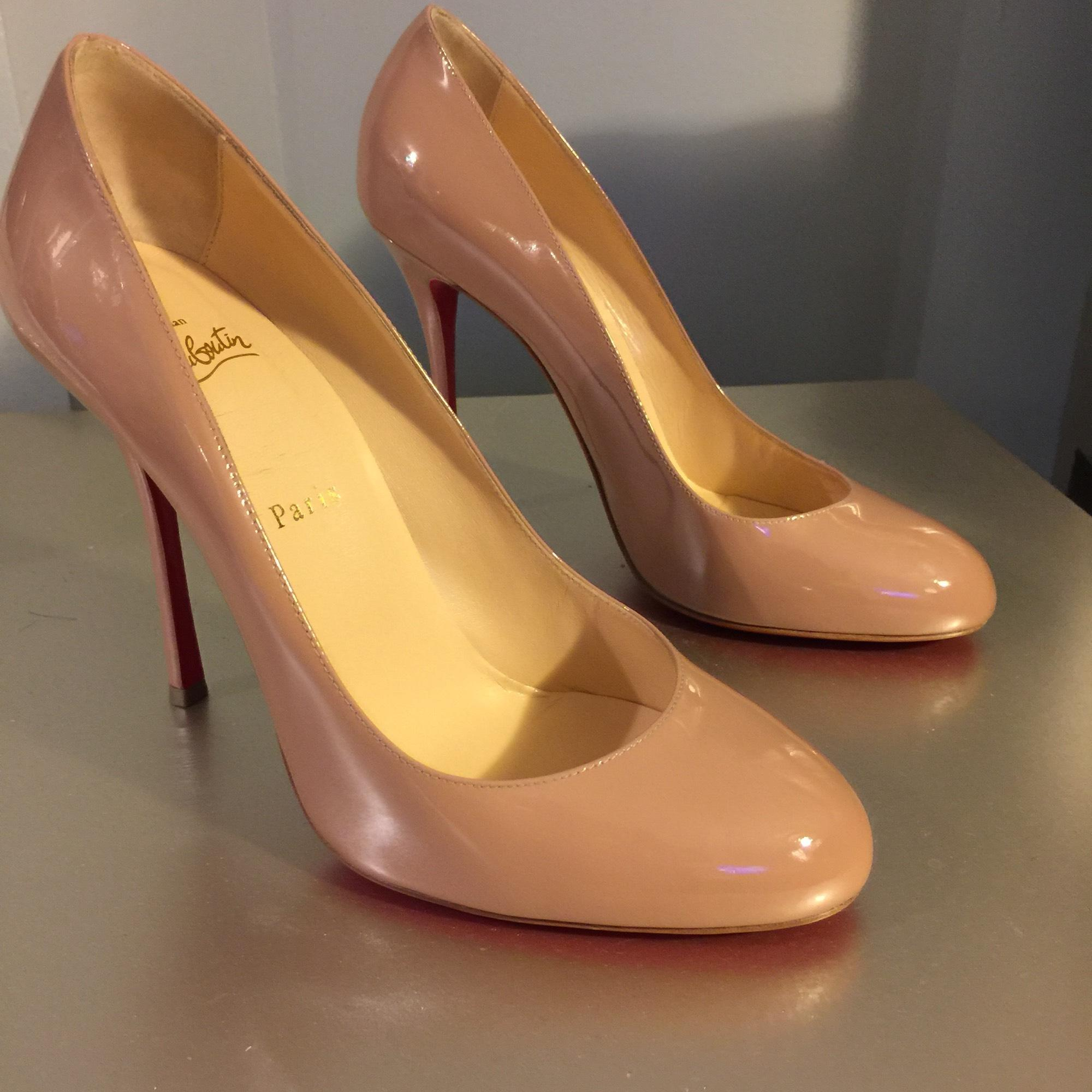 492a6bfcf729 ... Christian Louboutin Nude Fifetish 100 Patent-leather Pumps Size Size  Size EU 40 (Approx ...