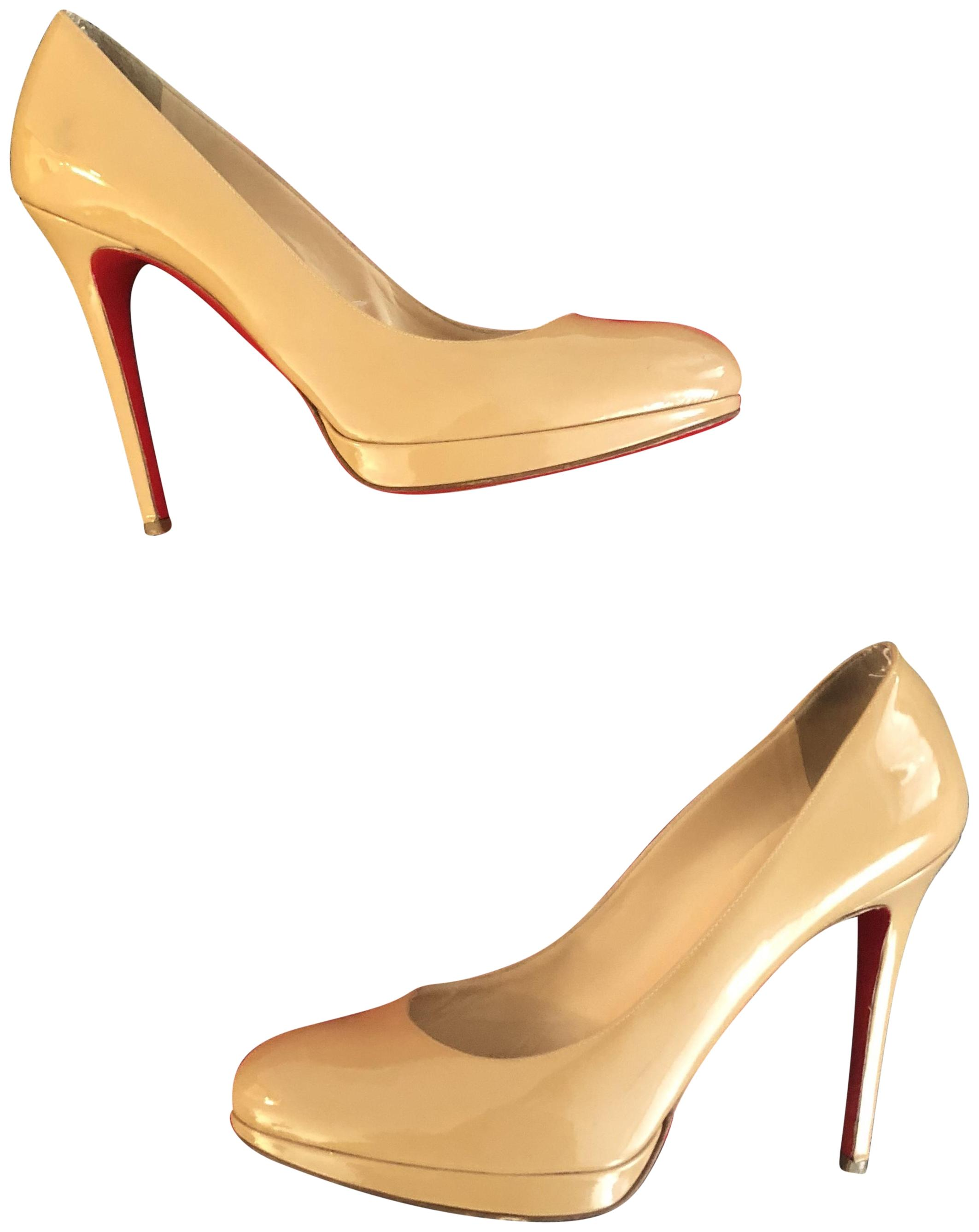 Christian Louboutin Pumps Nude Nude/Beige Patent Leather Pumps Louboutin Size EU 41 (Approx. US 11) Regular (M, B) fa182b