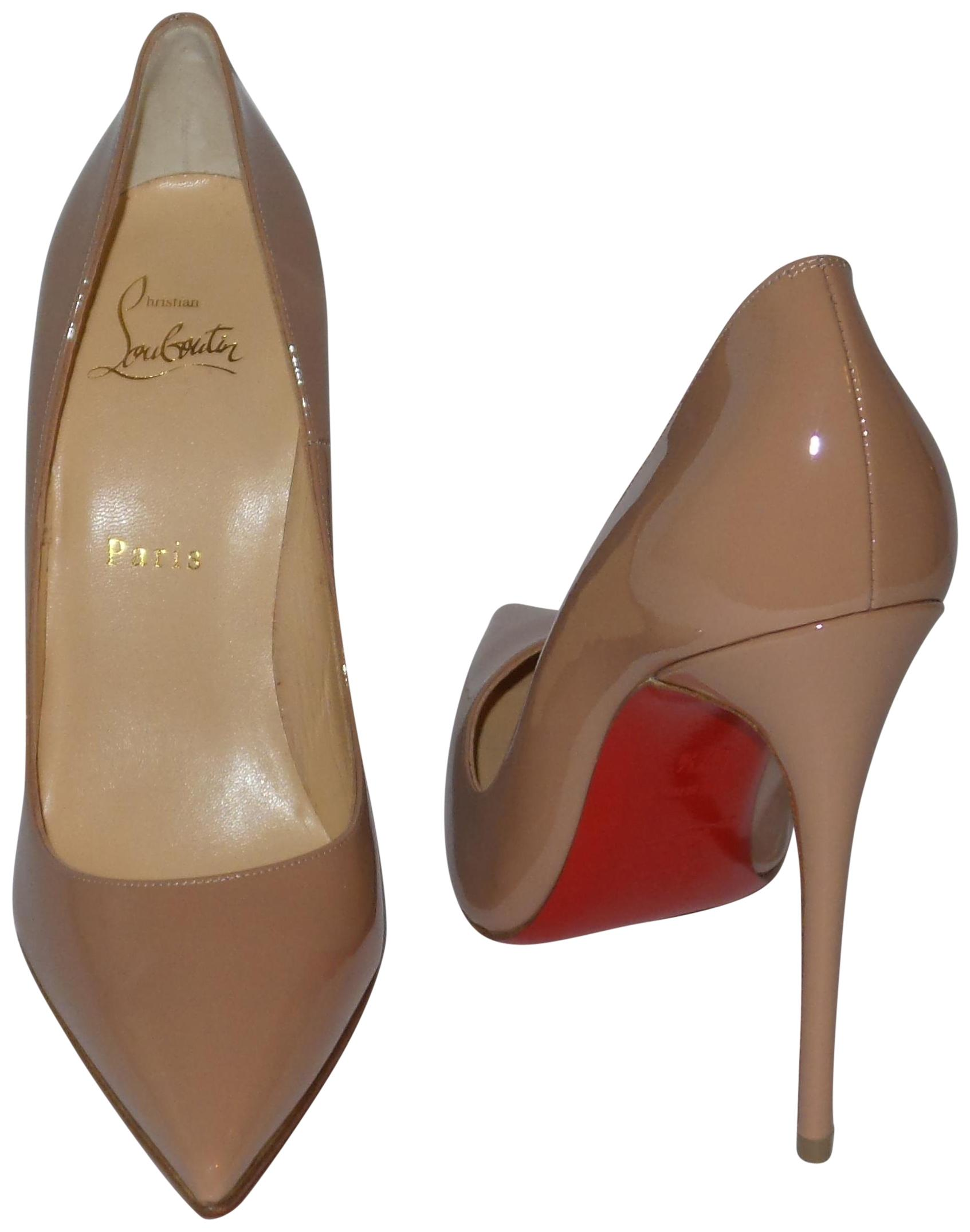 3035552c2f32 Christian Louboutin Nude So Kate Kate Kate 120 Patent Leather Pumps Size EU  37.5 (Approx. US 7.5) Regular (M