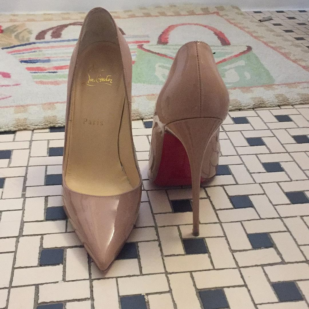 7d28837d250d ... Christian Christian Christian Louboutin Nuede So Kate 120 Patent  Leather Pumps Size US 8 Regular ...