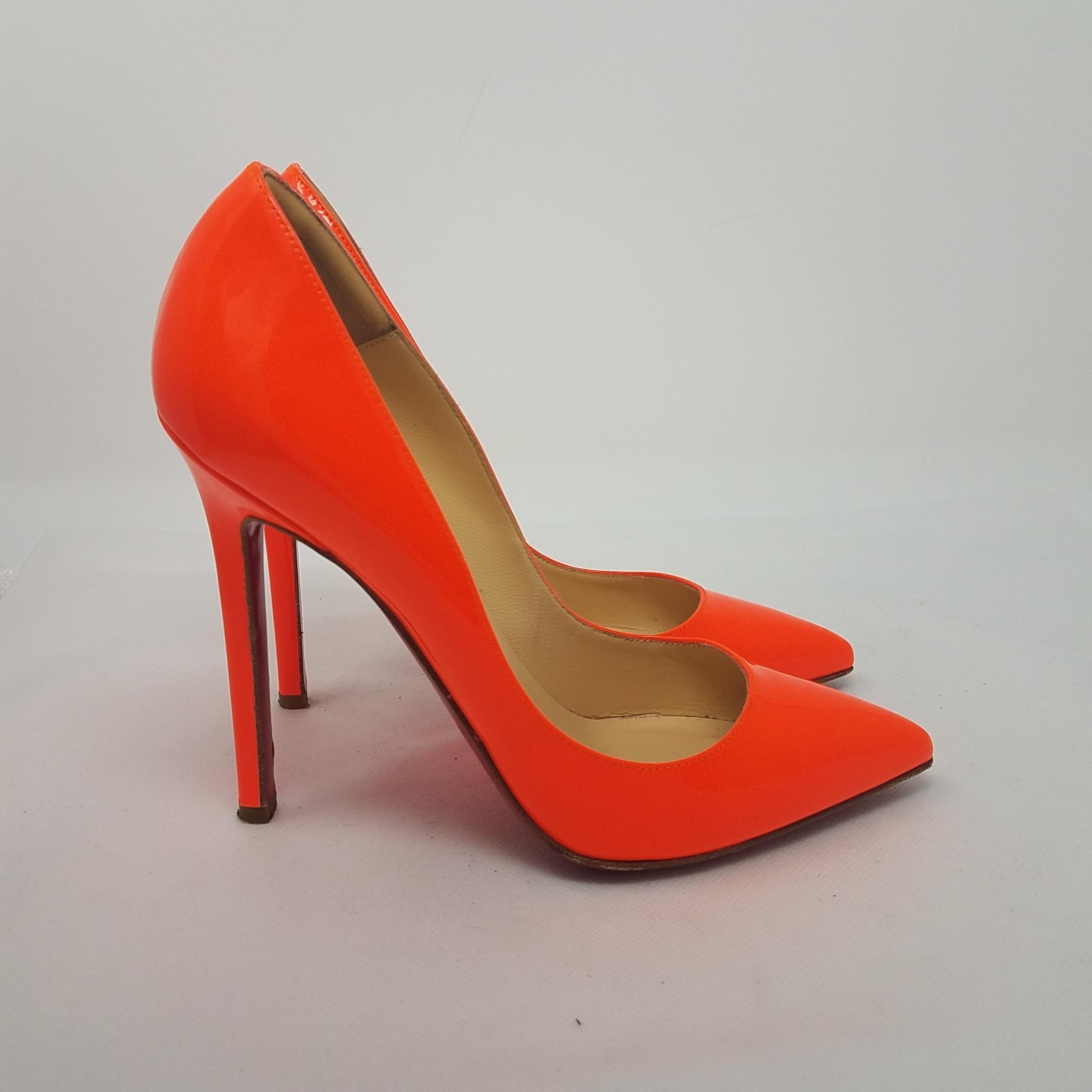 a1eb0da33cf ... low cost christian louboutin neon patent leather pointed toe so kate  pigalle orange pumps d1b46 224e1