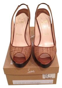 Christian Louboutin Orlato Brown (Raw) Sandals
