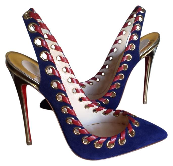 Christian Louboutin Ostri Sling Pointed Toe Pumps Size US 8