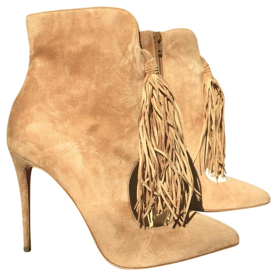 Christian Louboutin Ottocarl Noisette Camel Suede Brown 37 Boots/Booties Size B) US 7 Regular (M, B) Size d5f827
