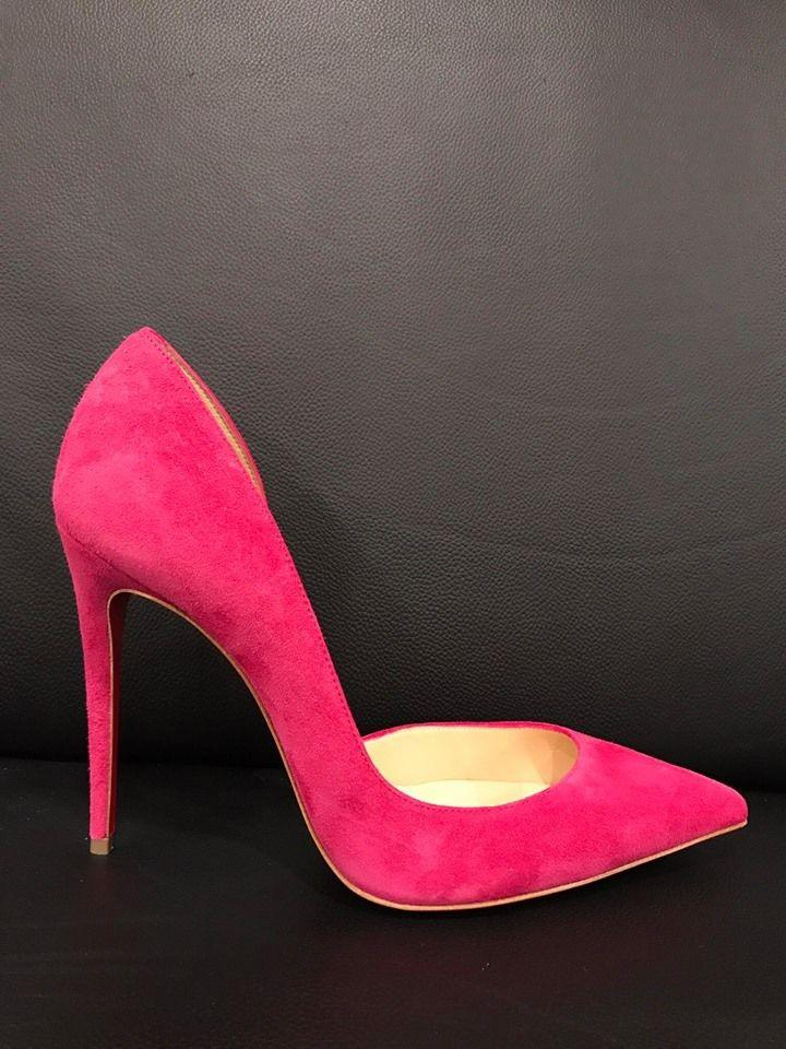 7401d4a0975b ... Christian Louboutin Pink Iriza 100 Rosa Rose Suede D orsay D orsay D   ...