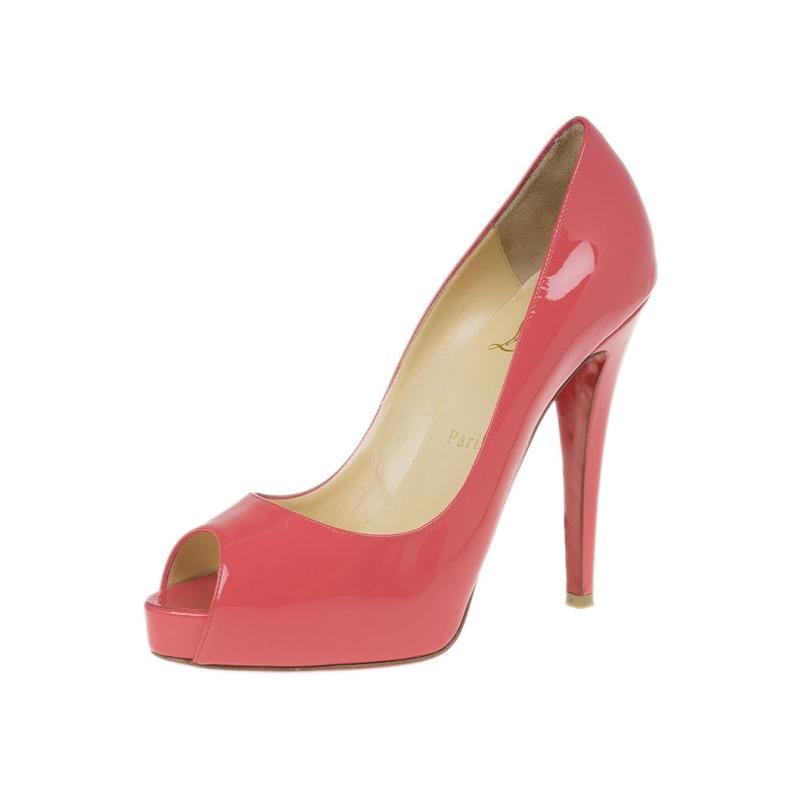 e893ce5a903 Christian Louboutin Pink Patent Very Prive Pumps Size EU 37 37 37 (Approx.  US 7) Regular (M