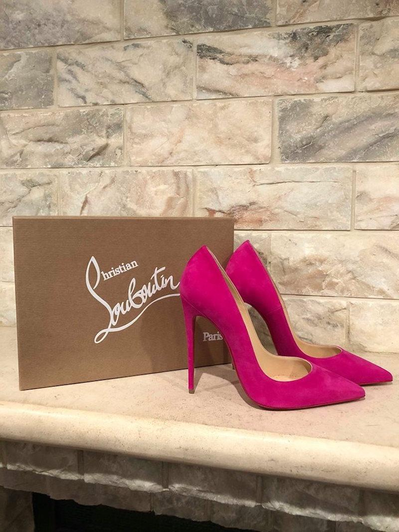 fdbf86d3d02e ... Christian Louboutin Pink So Kate 120 120 120 Ultra Rose Suede Pointed Heel  Pumps Size EU ...