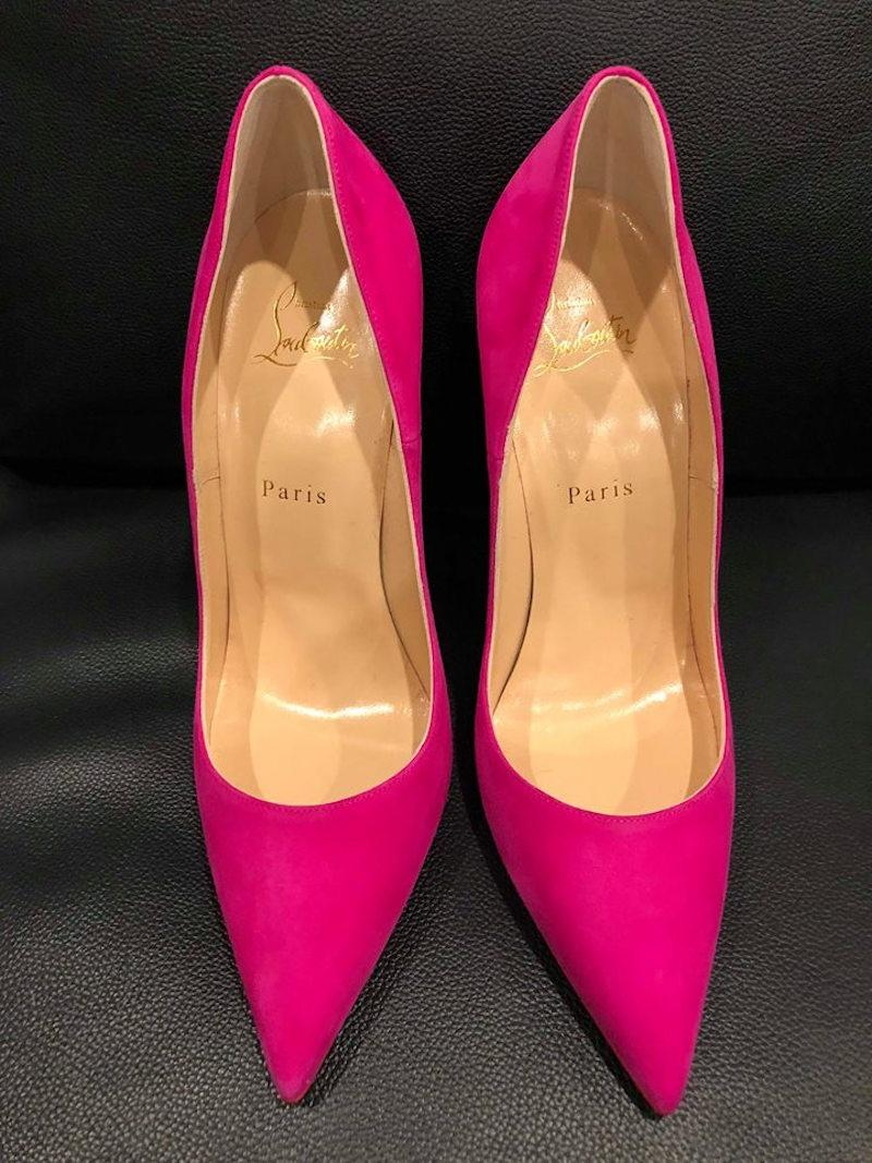 e26dbd5548c ... Christian Louboutin Pink So Kate 120 120 120 Ultra Rose Suede Pointed  Heel Pumps Size EU ...