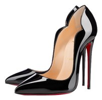 Christian Louboutin Hot Chick Hot Chick So Kate Patent Patent Leather 120 37 6.5 Black Pumps