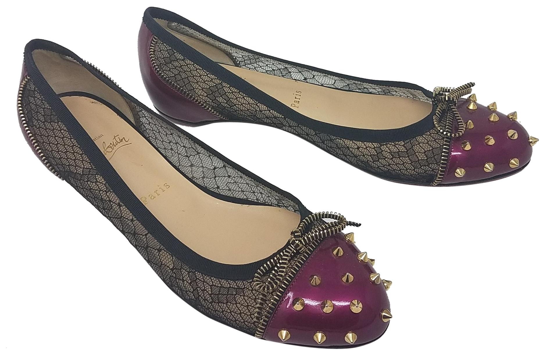 Christian Louboutin Mesh Round-Toe Flats clearance online outlet under $60 outlet get authentic cheap price m2qoACwkKR