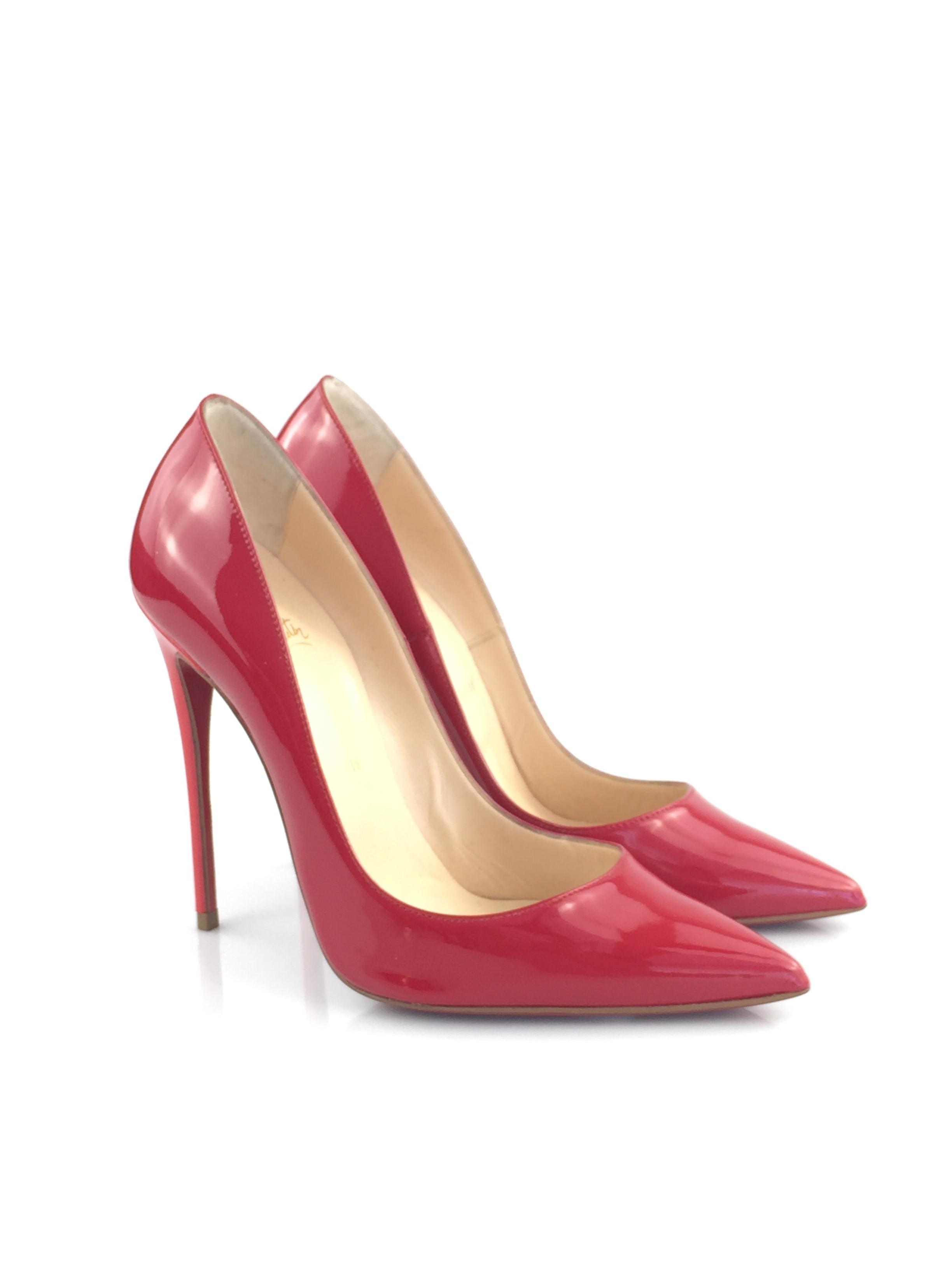 5273edeff1c8 Christian Louboutin Red Classic Classic Classic So Kate 120mm Patent  Leather Point-toe Pink Heel Pumps Size EU 38.5 (Approx. US 8.5) Regular (M