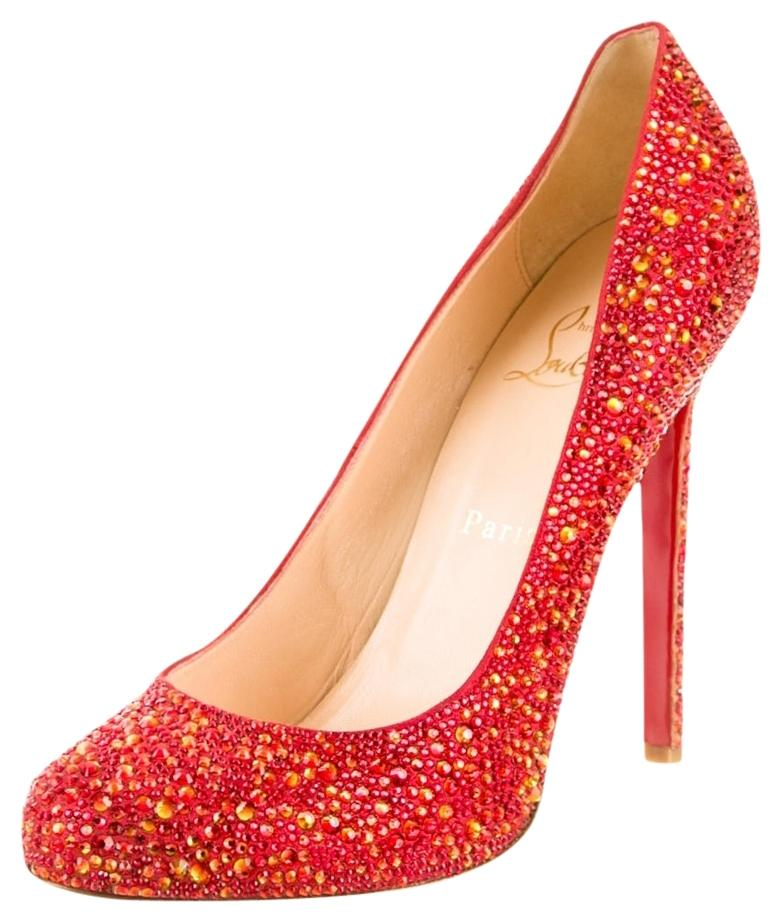 Christian Louboutin Embellished Round-Toe Pumps clearance store for sale 7WdMpJ