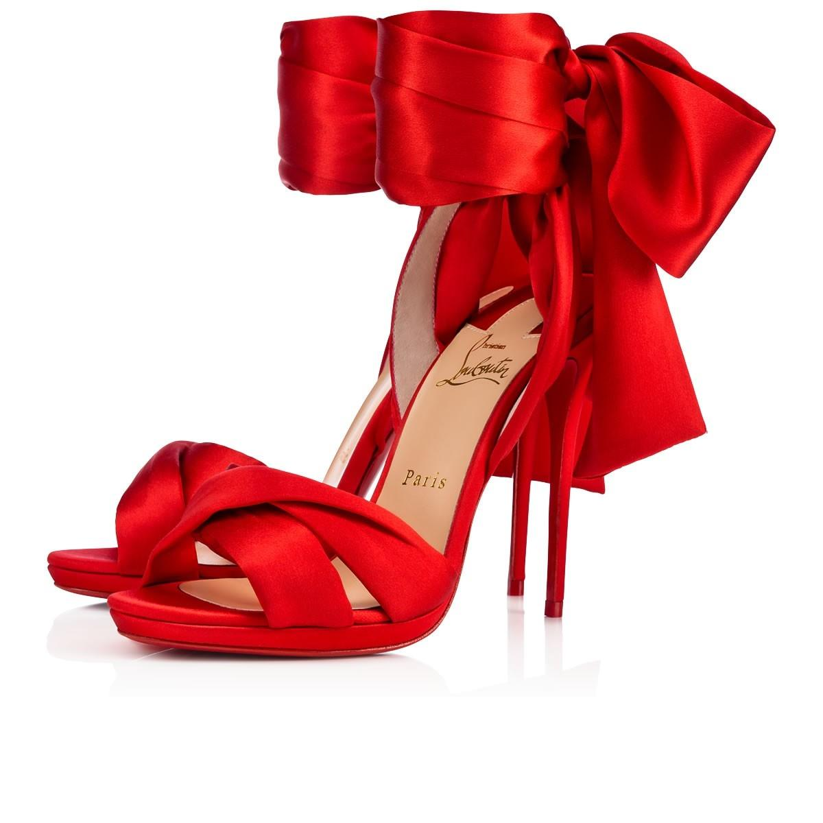 Tres Frais 120 Satin Sandals - Red Christian Louboutin epBkOm