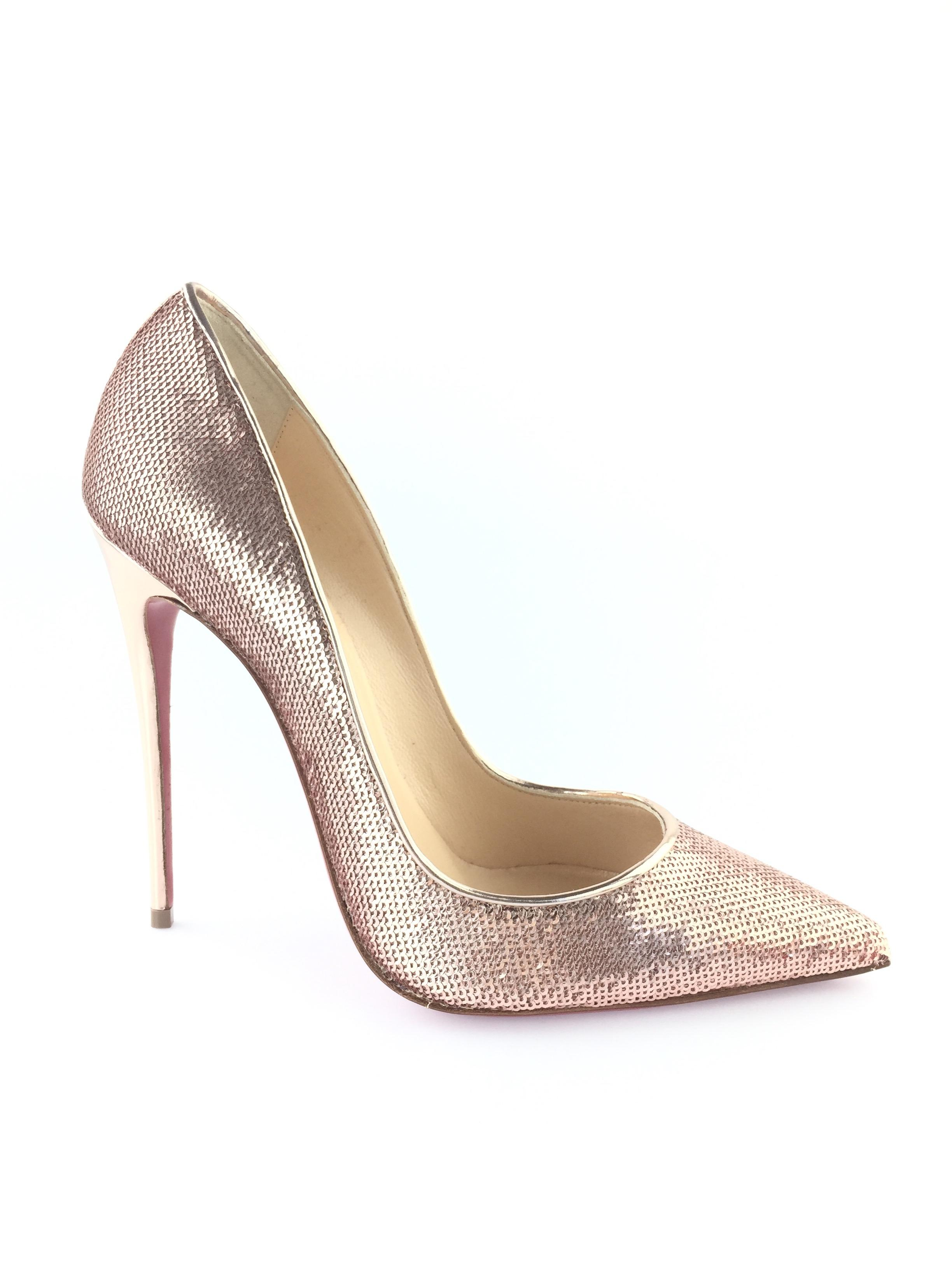 online store f7f65 092fb Christian Christian Christian Louboutin Rose Gold So Kate ...