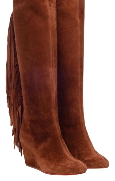 cheap find great ebay Christian Louboutin Pouliche Fringe Boots 100% guaranteed new arrival cheap price DNcLIk76m