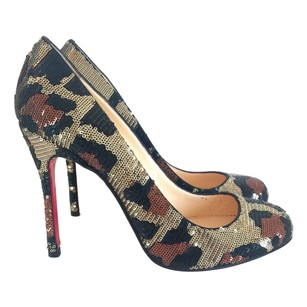 Christian Louboutin Sequin Green Pumps