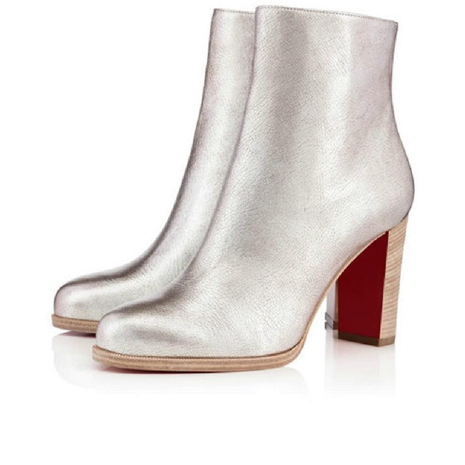 Christian Louboutin Metallic Leather Ankle Boots free shipping new arrival 1wHacCA