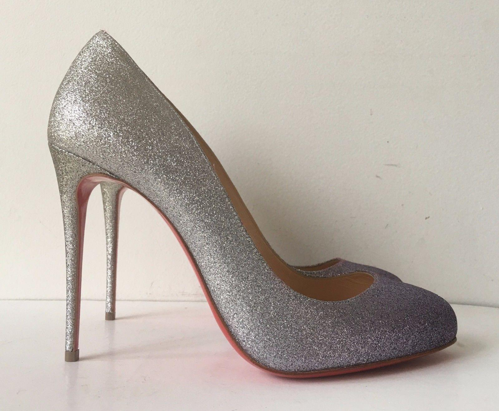 release dates sale online supply for sale Christian Louboutin Dorissima 100 Glitter Pumps w/ Tags pick a best for sale lLLkoPz