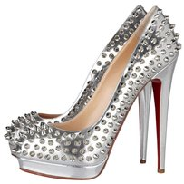 Christian Louboutin Alti Pump Metallic Spike Pump Silver Pumps