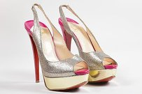 Christian Louboutin Pink Multi-Color Pumps