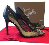 Christian Louboutin Body Strass Crystal 100mm Heels Black Pumps