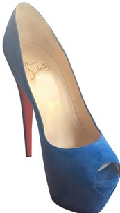 Christian Louboutin Suede Blue Pumps