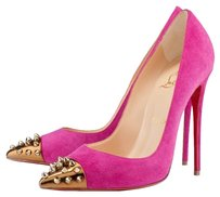 Christian Louboutin Suede Leather Stiletto Pink Pumps
