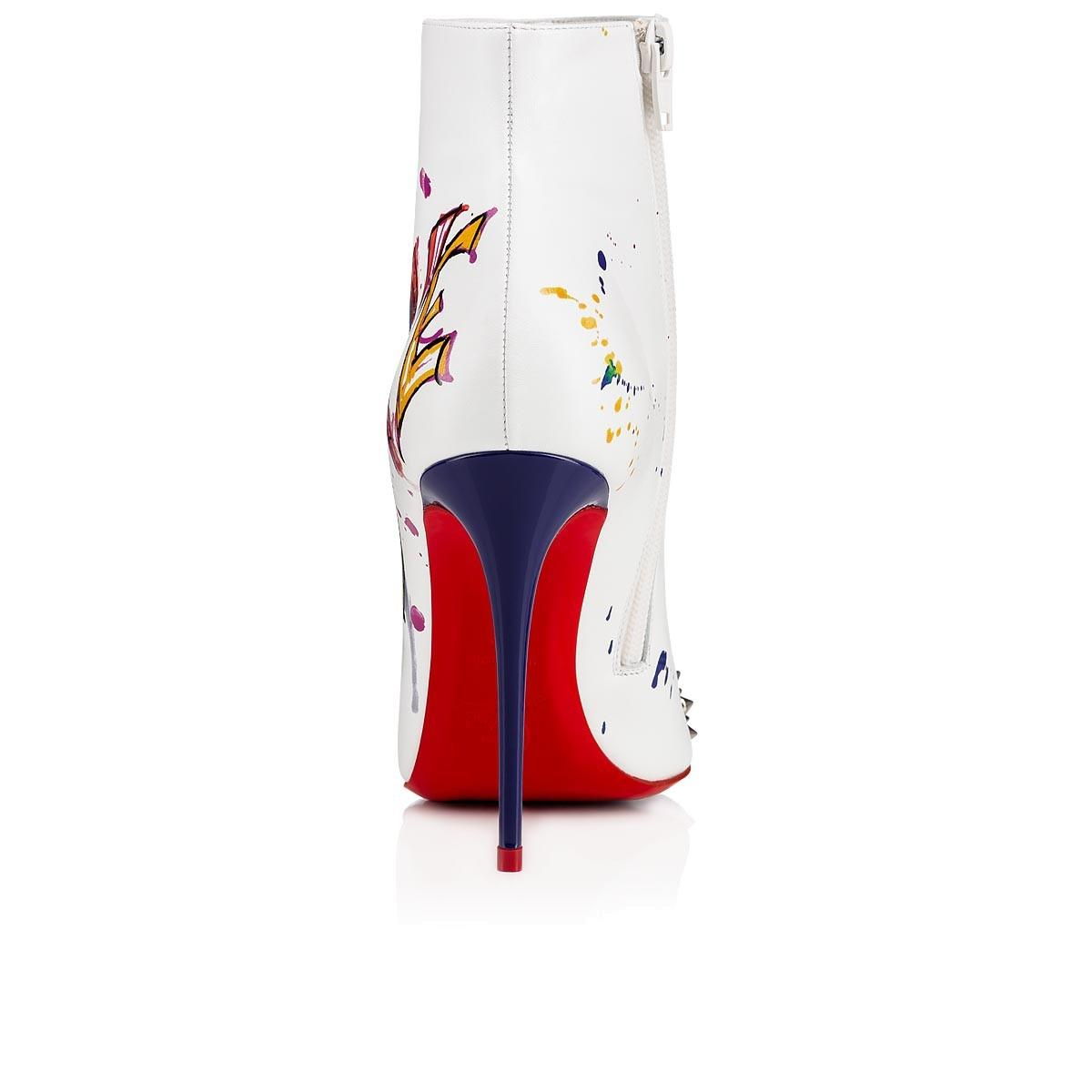 8dd5a35715d Christian Louboutin White Love Is A A A 100 Silver Spike Red ...