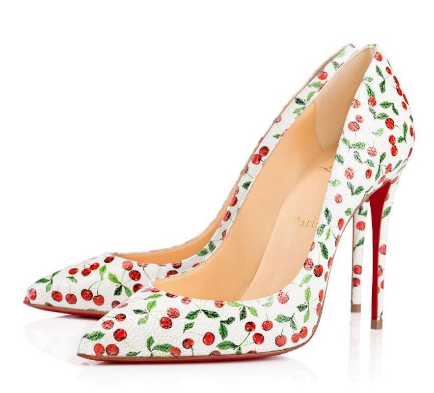06954bc98943 Mr Ms:Christian Louboutin White Pigalle Follies 100 Caviar Red Cherry  Classic Classic Classic Stiletto Heel Pumps Size EU 38 (Approx. US 8)  Regular (M