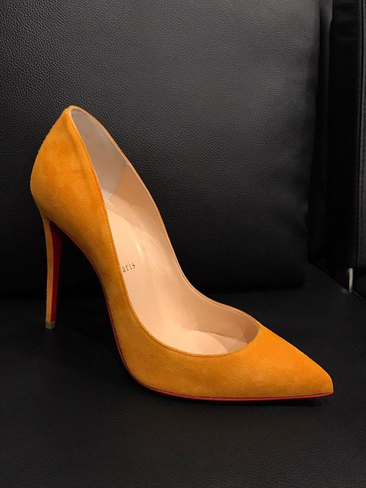 9db1624445ec ... Man s Woman s——Christian Louboutin Yellow Pigalle Follies 100 100 100  Full Moon Suede ...