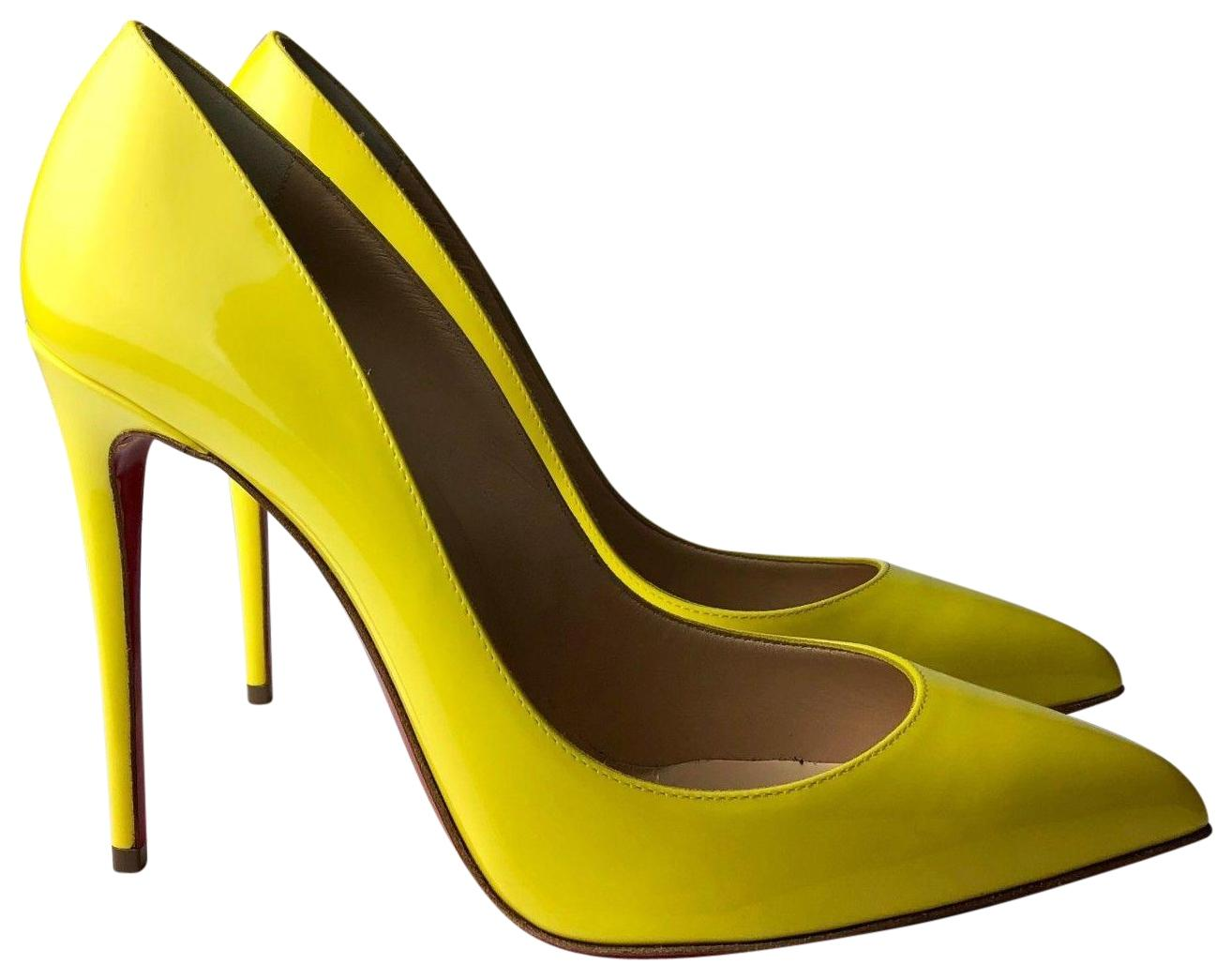 a5ab223c2387 Christian Louboutin Louboutin Louboutin Yellow Pigalle Follies 100 Patent  Sun Pumps Size EU 35 (Approx. US 5) Regular (M