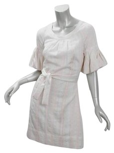 Christopher Deane short dress Ivory Womens Celine Embroidered Belted Shift Mini on Tradesy