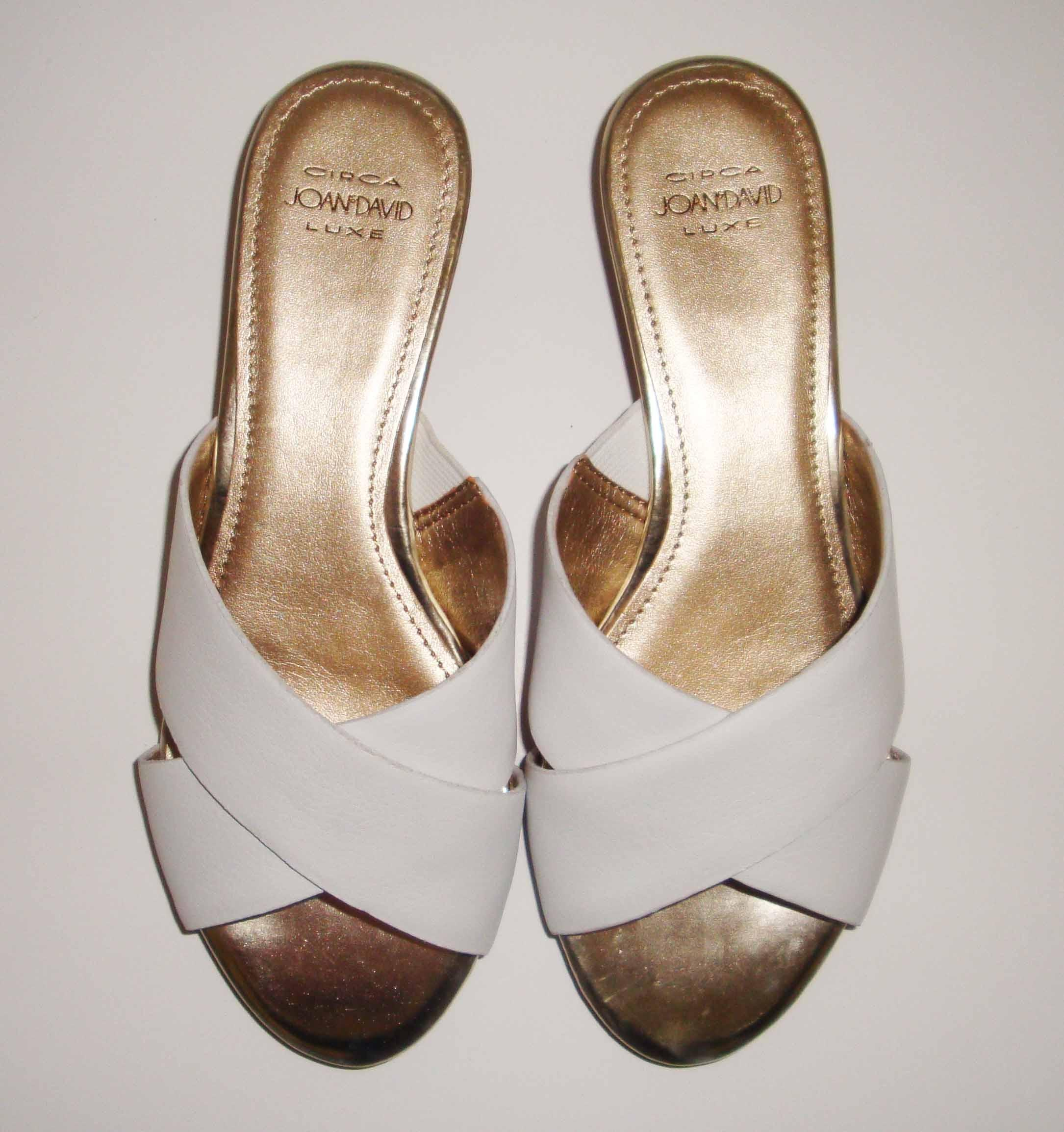 27882b2f837 ... Circa Joan & David White White White Leather Sandals Size US 6 Regular  (M, ...