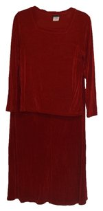 Citiknits Citiknits Travelers Style Slinky Square-Neck Top and Skirt Set Size Small