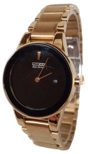 Citizen Citizen Eco Drive Axiom Black Dial Gold Tone Ss Quartz Womans Watch Ga1052-55e