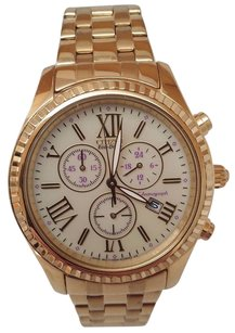 Citizen Citizen Eco-drive Ladies Chronograph Gold Tone Stainless Steel Watch Fb1362-59p
