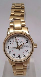 Citizen Citizen Gold Womens Easy Reader White Dial Expansion Steel