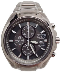 Citizen Citizen Eco-drive Mens Titanium Gray Solar 24h Date Chronograph Watch Ca0260-52h