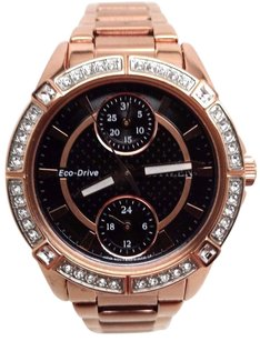 Citizen Citizen Eco-drive Watch For Women Crystal Rose Gold Tone Fd3003-58e