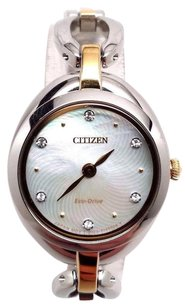 Citizen Citizen Womens Eco-drive Silhouette Crystal Ex1434-55d Silver Stainless-steel E