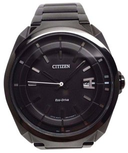 Citizen Genuine Citizen Aw1015-53e Sport Eco-drive Black Ion Stainless Steel Date 42mm