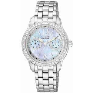 Citizen Silhouette Eco-Drive Mother Of Peral Dial Quartz Ladies Watch