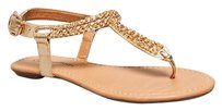 City Classified Gold Sandals