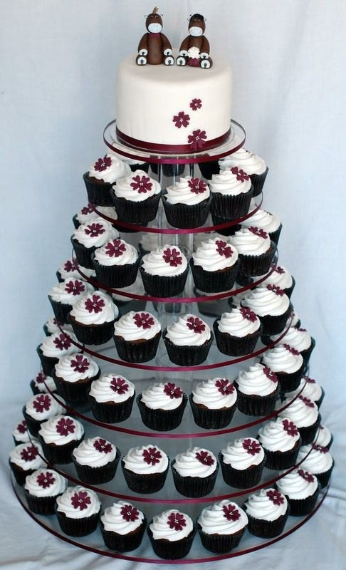 Clear 5 Tier White Round Acrylic Cupcake Stand Tree Tower Cup Cake Display  Dessert Tower Other   Tradesy