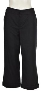 Club Monaco Womens Navy Dress Wool Trousers Cropped Pants
