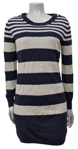 Club Monaco short dress beige-navy Renee Sweater on Tradesy