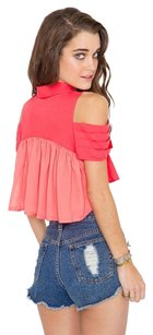 C/meo Collective Crop Cameo The Label Cameo Top orange pink coral